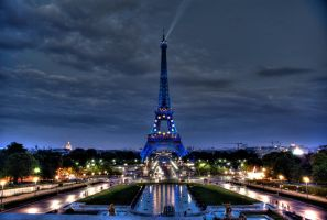 Blue Eifel Tower by ortix
