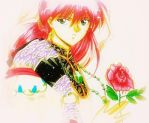A Lone Rose by MegumiTakani13