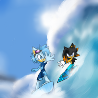Comp: Hedgehogs on surfboards by Scarlettthedarkwolf