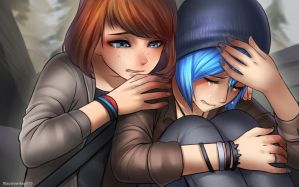 Chloe and Max cry cry by RacoonKun