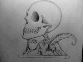 thinking skull by yayet93