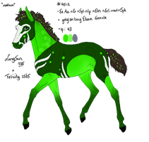 4512 WVF Smoke Admiral  Padro Foal Design by shockmyworld12
