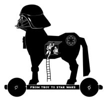 FROM TROY TO STAR WARS logo by dywa