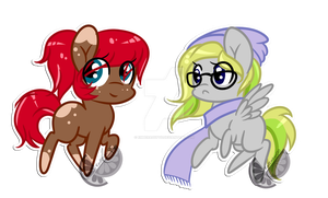 Have some chibi adopts (1/2 Open) by EmberAdopts