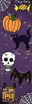 Halloween Bookmark by Cizzy-Swag