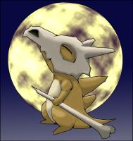 Cubone's Moonlight Melancholy by AInfinity
