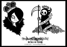 Death and Royalty Tattoos by Twelfthgecko