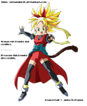 DB Heroes GM Heroine ssj v2 Render by Metamine10