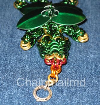 Handcrafted Chain Mail Winged Dragon Bracelet by chainmailmd