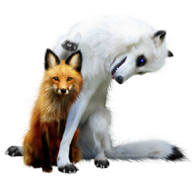 Foxy and Shiloh by xTaboo