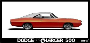 1970 Dodge Charger Toon by Wrofee