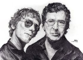 Retrato5- Spinetta y Charly by NRG by NRGart7