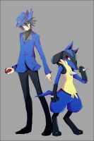 Riley and Lucario by loster152