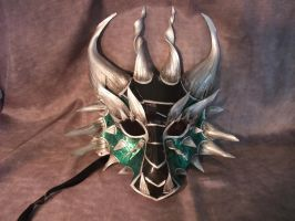 Green Dragon Mask by Jedi-With-Wings