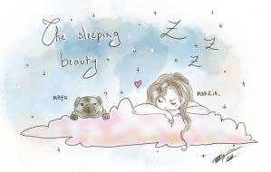 The Sleeping Beauty - MarziaCutiePie and Maya by Nami-chwann