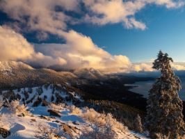 Lake Tahoe ridge Clouds by MartinGollery