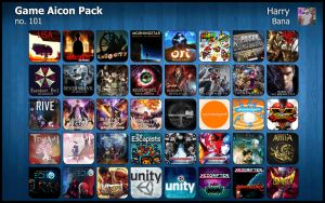 Game Aicon Pack 101 by HarryBana
