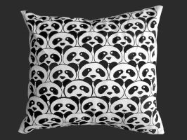 Pandas are everywhere Pillow by S-beauty