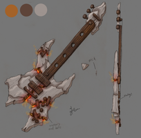 Aion Bard Weapon Contest Design: Rock Guitar by Zephyr-Aryn