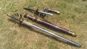 Larp witchunter rapier and matching main gauche. by DragonArmoury