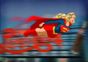 Speeding Supergirl by DESPOP