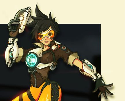 Tracer Overwatch Fanart - close up vers by Villian-KucingKecil