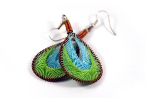 Peruvian Thread Earrings Take by seandreea