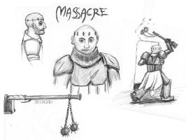 Massacre scribbles by Cruzio