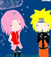 Naruto and Sakura by Ooka-chan by blueglacier19