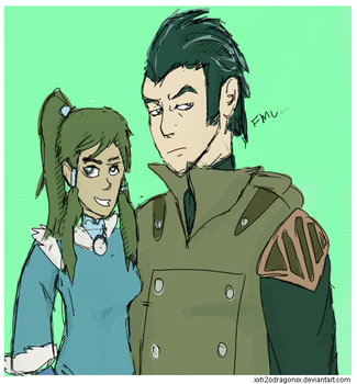 Noatak and Korra by XxH2oDragonxX
