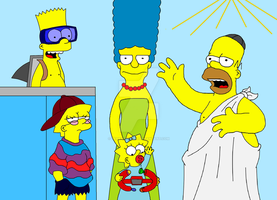 The Simpsons on holiday by terry12fins24