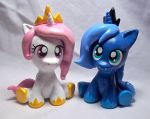 Royal Sisters Sculpts by CadmiumCrab