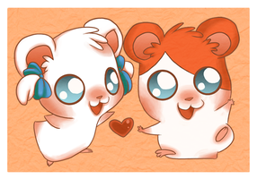 Hamtaro and Bijou by Pace-Eterna