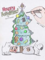 The Holiday Card Christmas Tree by Finnjr63