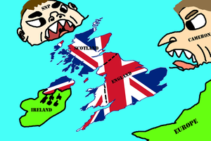 Save the UK political cartoon by GeneralHelghast