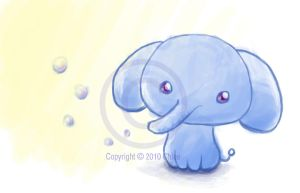 Quick Chibi Elephant Sketch by Tsukarii