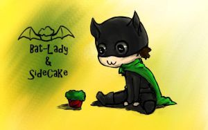 Bat-Lady and SideCake by Giggles-the-Panda