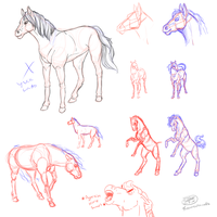 Ohgod Let's Try Drawing Horses by RoomsInTheWalls