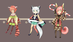 Adopts:: Kimonomimi fluffy tail batch CLOSED by Pandastrophic