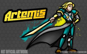 Commission: Fighting is Magic - Artemis by Groxy-Cyber-Soul