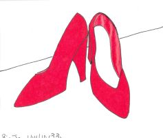 Sailor Mars Shoes by Dafootclan