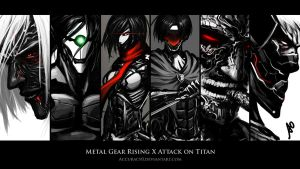 Metal Gear Rising X Attack on Titan Wallpaper by Accuracy0