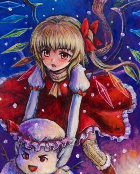 Flandre_and_snowman by tafuto001