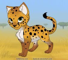 my cheetah kitty by Adrastia217