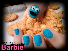 Cookie Monster Nails by BarbieNailArt