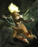 Abandoned concept: Goku by Rhineville