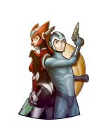 Megaman and zero. by mikegrygier
