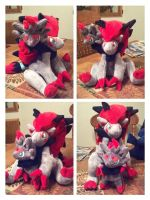 zoroark and zorua plush by LRK-Creations