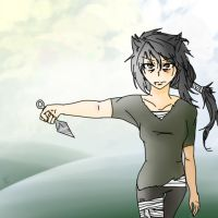 Color Tinted Monochrome (Humanized Yellowfang) by runtyiscute1999