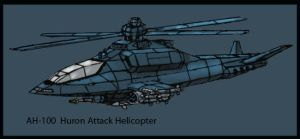 AH-100 Huron Attack Helicopter by Andared